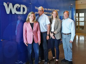 The Brookman family: Karen, president/CEO; George, chairman; Jennifer, vice-president marketing; and Allan Megarry (Karen's husband), CFO, at the unveiling of the company's new WCD brand.