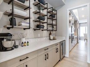 The butler's pantry in the Willow show home by Baywest Homes in Mahogany.