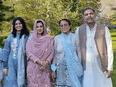 Syed Afzaal, 44, right, and his family were walking Sunday night on June 6 in London, Ont., when they were struck by a driver who police believe targeted them because they are Muslim. Faez Afzaal, 9, not shown, was injured while Yumnah Afzaal, 15; Madiha, 44, the wife of Syed Afzaal; and Syed Afzaal's 74-year-old mother were killed.