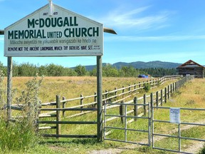 The construction site of a new McDougall Memorial United Church, as seen on June 26, 2020.