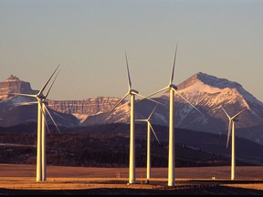 A wind farm in southern Alberta. Canadians want action on climate change and lowering emissions; they also want a growing economy and jobs.