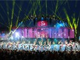 Performers are seen on stage during the Bell Grandstand Show at the Calgary Stampede. Friday, July 9, 2021. Brendan Miller/Postmedia