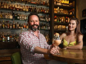 Calgary sommelier Brad Royale and his partner Makina Labrecque invented a cocktail called 16 Hours in Tokyo, after a whirlwind trip around the world.