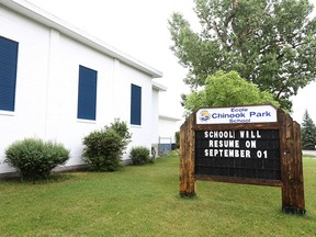 Chinook Park Elementary School in Calgary is shown on Sunday, July 11, 2021. An updated plan warns of potential closure to 16 public schools over eight years, one of which is Chinook Park Elementary.