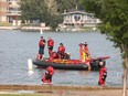 Chestermere Fire Department, EMS and RCMP responded to the lake, east of Calgary, at approximately 3 p.m. Monday after reports that two men were having trouble swimming to shore. Al Charest/Postmedia