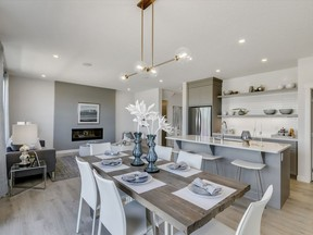 The dining area in the Highland show home by Trico Homes in Ambleton.
