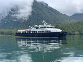 Maple Leaf Adventure's catamaran Cascadia took passengers up and over the top of Vancouver Island along the rugged west coast. Courtesy Jennifer Allford