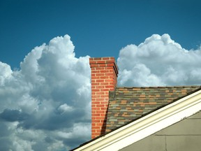 Check the condominium plan to see if chimneys are described as common property or belonging to the unit.