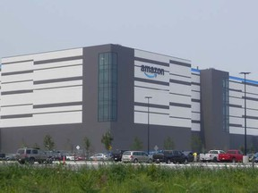 Amazon's new 2.8-million-square-foot Barrhaven in Ottawa. Industrial real estate is booming because of the need for warehouses to hold online shopping orders.