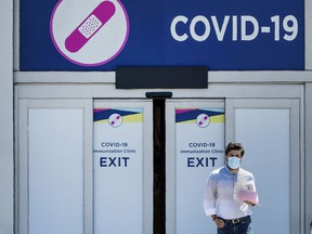 A vaccine clinic in Toronto. TORONTO, ONTARIO: JUNE 15, 2021—PANDEMIC--People attend a vaccine clinic at Cloverdale Mall during the Covid 19 pandemic, Tuesday June 15, 2021. [Peter J Thompson] [National Post story by TBA/National Post]