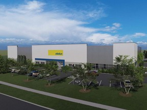 Rendering of a 46,500-square-foot new facility for Doka Canada. Supplied by ICM Asset Management.
