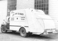 This garbage truck revolutionized the way the City of Calgary handled trash in 1951. The new truck packed garbage within the body of the vehicle, as opposed to the old-style trucks that simply hauled trash away in open boxes.