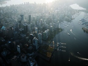 Commercial and residential buildings in Vancouver. Retail and office buildings saw renewed interest in the second quarter, but still lagged other corners of the market.