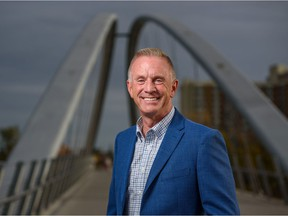 Brad Field, Calgary mayoral candidate, poses for a photo in East Village on Thursday, September 30, 2021. Azin Ghaffari/Postmedia