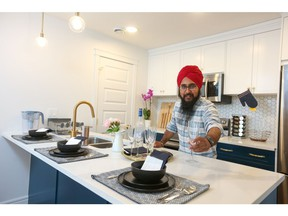 Ramneek Singh loves the ability to work from his new home in Savanna Townhomes, allowing more time for him to explore his passion of cooking.