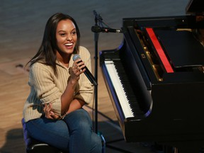 Juno-award winning musician Ruth B. surprised a group of students from St. Rita School with a special performance followed by a Q & A session at the Studio Bell on Monday, December 4, 2017. This year, St. Rita School received $10,000 worth of musical instruments through the MusiCounts Band Aid Program. Gavin Young/Postmedia