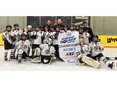 Crowfoot 2 won the Atom 3 division of the Esso Minor Hockey Week tournament.