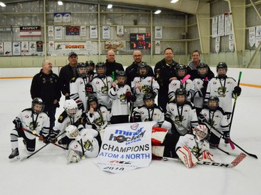 Crowfoot 3 White won the Atom 4 North division of the Esso Minor Hockey Week tournament. Cory Harding Photography