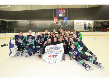 Springbank 1 took the Bantam 1 division at Esso Minor Hockey Week, which ended on Saturday.