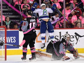 The Swift Current Broncos rode to a 6-4 win over the host Calgary Hitmen at the Saddledome on Feb. 27, 2018