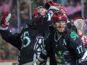 The Calgary Roughnecks and Curtis Dickson are smiling. They're off to the playoffs.