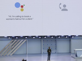 Google CEO Sundar Pichai speaks at the Google I/O conference in Mountain View, Calif., Tuesday, May 8, 2018. Google put the spotlight on its artificial intelligence smarts at its annual developers conference Tuesday, where it announced new features and services imbued with machine learning.