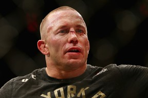 Georges St. Pierre hasn't fought since he returned to the UFC octagon last November and beat Michael Bisping for the promotion's middleweight title. (Mike Stobe/Getty Images)