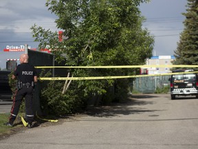 The scene of a stabbing at Macdonalds on 3611 17 avenue in Calgary, on Friday June 15, 2018. Leah Hennel/Postmedia
