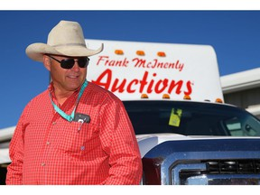 Chuckwagon driver Rick Fraser spent the morning in barns auctioning off his wagon gear, the veteran Chuckwagon racer will call it a career after the 2018 Calgary Stampede. Al Charest/Postmedia