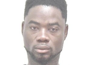 Phillip Prince Afolabi, 27, pictured, is wanted on 43 outstanding warrents.
