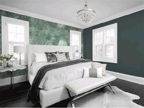 Dulux Paints has named two deep green tones, Night Watch and Mojito Shimmer, as co-colours of the year for 2019. Mojito Shimmer has a distinctive frosty-green coating that can act as a feature wall for the glamorous Night Watch.