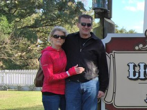 Shawn Boschuck, left, and her husband Alan Pennylegion have been identified as two of the victims in Tuesday's triple-homicide.