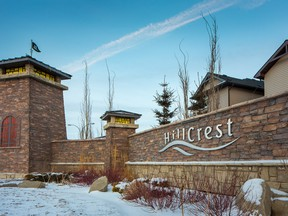 Courtesy Apex Developments  The front entrance to the Airdrie community of Hillcrest.