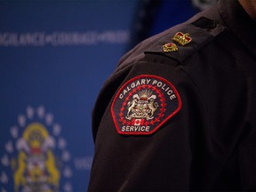 A Calgary police service emblem is seen on August 31st, 2018. (Zach Laing / Postmedia Network)