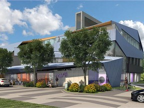 Architectural rendering were unveiled Thursday of a new centre for child and adolescent mental health, being built in partnership between Alberta Health Services and the Alberta Children's Hospital Foundation. (Supplied)