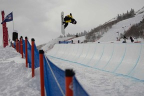 Jack Collins will be competing at the Halfpipe Rodeo FIS Freeski & Snowboard World Cup in Calgary.