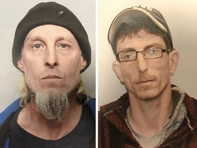James Beaver (left) and Brian Lambert have been convicted of manslaughter in the 2016 death of their landlord, Sutton Bowers.
