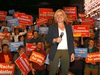 NDP Leader Rachel Notley held a rally to support NDP candidate Janet Eremenko and greet supporters at cSPACE in Calgary on Monday, April 8, 2019. Darren Makowichuk/Postmedia