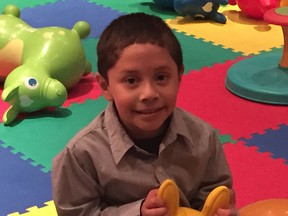 Emilio Perdomo died after he was taken to the Alberta Children's Hospital with multiple injuries. His grandfather is on trial for manslaughter in connection with the boy's death.