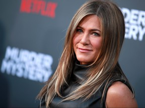 "Jennifer Aniston attends the L.A. premiere of Netflix's ""Murder Mystery"" at Regency Village Theatre on June 10, 2019 in Westwood, Calif. (Rich Fury/Getty Images)"
