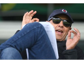 Canada's Equestrian Chef d'Equipe Mark Laskin watches riders during the Friends of the Meadows Challenge during The National showjumping competition at Spruce Meadows in Calgary on Wednesday, June 5, 2019. Laskin will pick the Pan American equestrian team following The National which runs through Sunday. Jim Wells/Postmedia