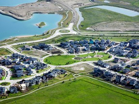 Lakefront homes are now available in the Springbank community of Harmony