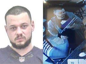 Calvin O'Brien, 28, was wanted on warrants in connection with an armed robbery. Courtesy Calgary Police Service.