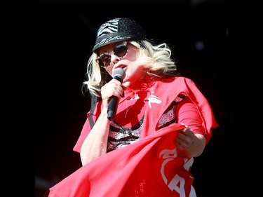 Deborah Harry, lead singer of the band 'Blondie', performs to a sold out crowd at the 2019 Stampede Roundup featuring Blondie and Billy Idol, at Shaw Millennium Park Wednesday, July 10, 2019. Dean Pilling/Postmedia