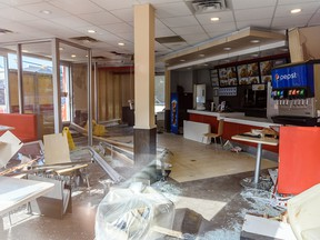 Pictured is the KFC on 17 Ave. and 12 Street S.W. ,closed for maintenance after a vehicle drove into the restaurant the day before, photographed on Tuesday, August 6, 2019. Azin Ghaffari/Postmedia Calgary