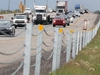 A traffic barrier is seen along Stoney Trail near the 16th Ave. exit. Tuesday, August 13, 2019. Brendan Miller/Postmedia
