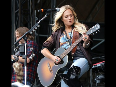Country singer Meghan Patrick opens up day one of the Country Thunder music festival, held at Prairie Winds Park in Calgary Friday, August 16, 2019. Dean Pilling/Postmedia