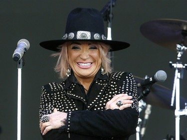 Country musician Tanya Tucker performs on the first day of the Country Thunder music festival, held at Prairie Winds Park in Calgary Friday, August 16, 2019. Dean Pilling/Postmedia