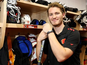 Calgary Flames Matthew Tkachuk back at the Scotiabank Saddledome after signing a new contract in Calgary on Wednesday, September 25, 2019. Darren Makowichuk/Postmedia