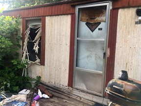An Alberta woman escaped by jumping out of a window of this home near the town of Norris, South Carolina. She had been held captive by Fred Russell Urey.